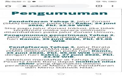 Pendaftaran Jalur Reguler PPDB 2020/2021 SMKN 2 Boyolangu Tulungagung